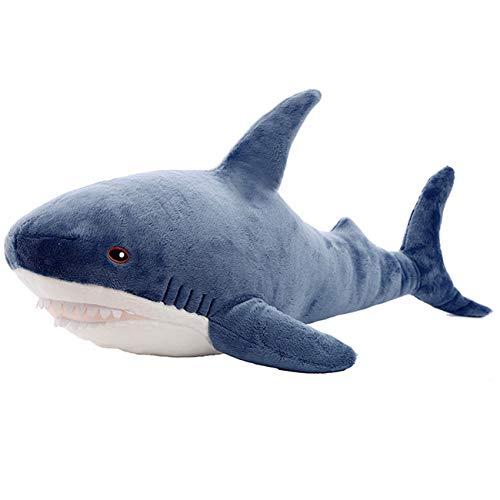 TWDRTDD サメぬいぐるみ 特大 かわいい おもちゃ おもしろ シロナガスク クジラ 可愛い 寝室 ふわふわ 動物 人形 ベッドルーム プレゼント 店飾り 母の日 こどもの日 誕生日 入学祝い 卒業祝い クリスマス 贈り物 (ブルー, 70cm)