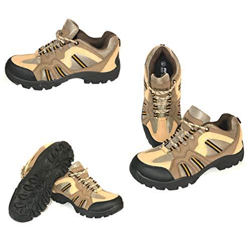 Zapatos Flexibles para Hombre, Color Tostado, para Hospital, Enfermera, Salud, protección contra Golpes, Caminatas, Caminatas, Color Marrón, Talla 41 EU