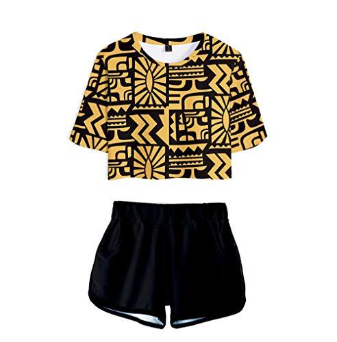 Niñas Summer Crop Tops y Pantalones Cortos Stranger Things Casual T-Shirt Trajes Nueva Temporada Personaje Dibujos Animados Impreso Moda Mujeres Chándales Pijamas