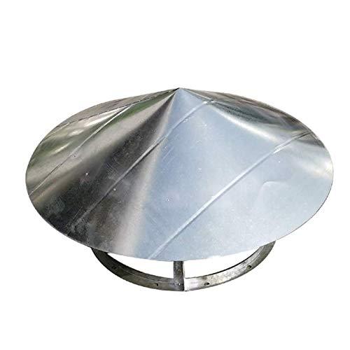 JXJ Tapa de ventilación de Chimenea, Tubo de Escape Redondo, Tapa de Lluvia, ventilación, Campana de Tubo de Chimenea, Cubierta de Techo contra Incendios, 200 mm