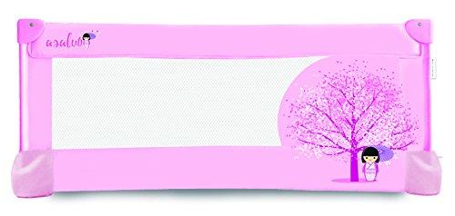 Asalvo 12678 - Barrera de cama, diseño flor de cerezo, 43,5x90x48 cm, color rosa
