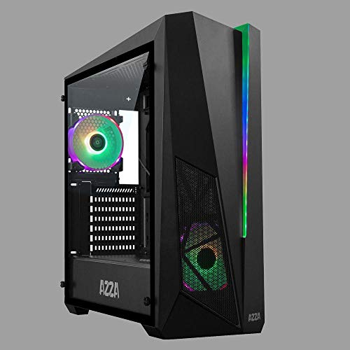 AZZA Thor 320DH RGB Tower-Gehäuse, schwarz, gehärtetes Glas