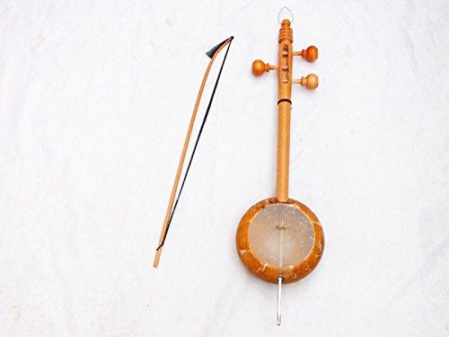 Kurdische Saite Instrument Qualität geschnitzt Rebab RUBAB W/A Schleife–Tasche.