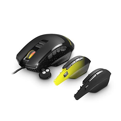 Oferta de Energy Sistem Gaming Mouse ESG M5 Triforce (Ratón 10000 dpi, 8/10/15 Customisable Buttons, Adjustable Weight, RGB Light)