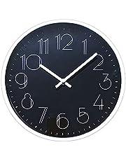 TETI`S Ducks Home - Reloj de Pared clásico, con números Grandes, diámetro Ø 25 cm. Decorativo para el hogar/la Cocina/la Oficina/la Escuela, fácil Leer.