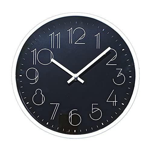 TETI`S Ducks Home - Reloj de Pared clásico, con números Grandes, diámetro Ø 25 cm....