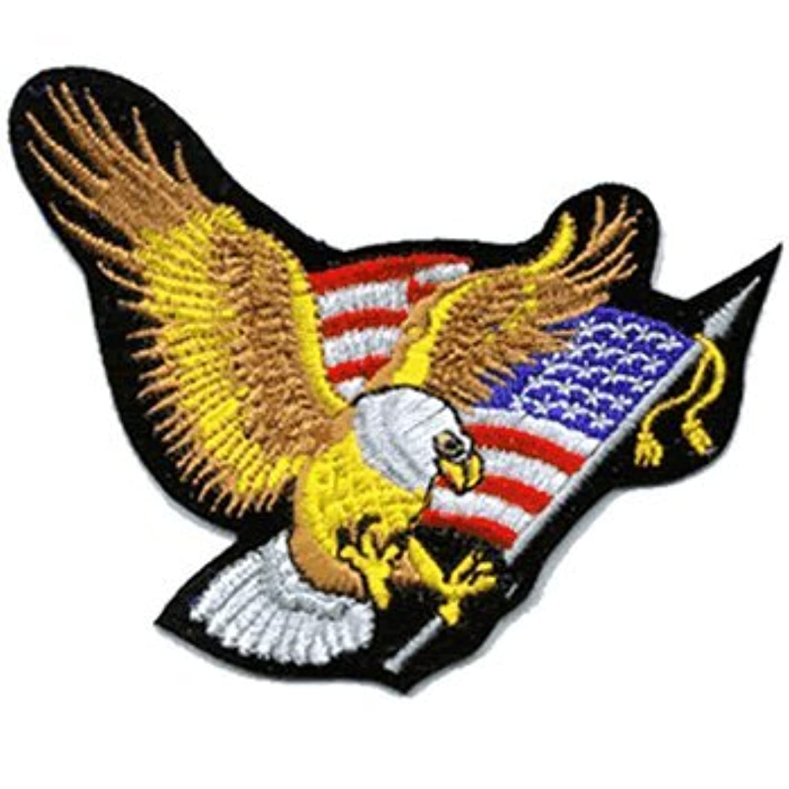 Eagle iron-on embroidered patch