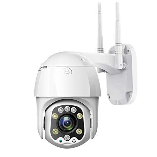Speed Dome WiFi Cámara IP 1080P 5MP al Aire Libre 5X Zoom Cámara inalámbrica 8pcs Led IR 30m Audio bidireccional CCTV Vigilancia (Color : 64GB)