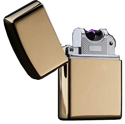 強風対応 USB充電式高級プラズマライター DL-18706 ゴールド 59×40×14mm