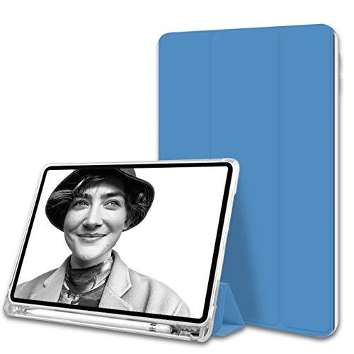 ZOYU - Funda para iPad Pro 11 2020 con tapa para lápiz y función atril (función atril, función de visualización/mecanografía), color azul