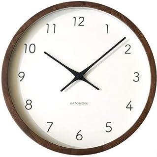 KATOMOKU muku clock 7 ウォールナット 電波時計 連続秒針 km-93RC φ306mm (電波時計)