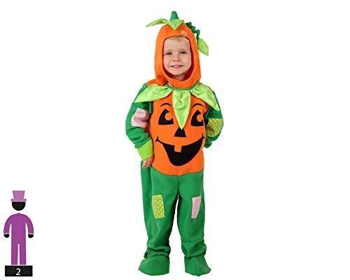 Déguisement Citrouille Orange et Vert Enfant Halloween - 1 à 2 Ans