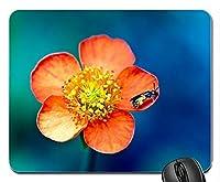 花と昆虫ハチマクロ写真新デザインラバーコンピューターマウスパッドマット