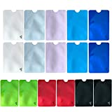 RFID Blocking Sleeves (Set of 16 Credit Card Protector Sleeves, 8 Unique Colourful)