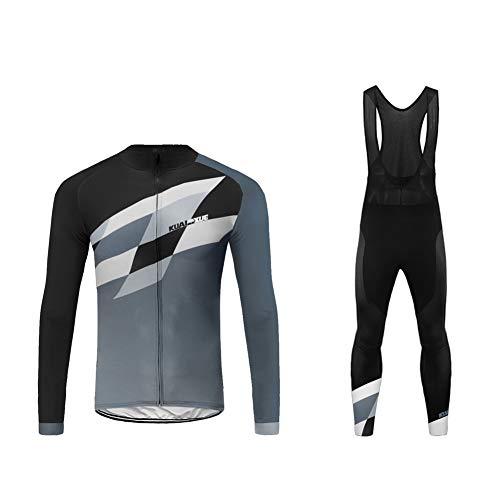 Uglyfrog Hommes Cyclisme Veste Imperméable Thermique Respirant Cyclisme Vêtements Ensembles Long Manches Veste + Pantalon de Vélo Pantalon