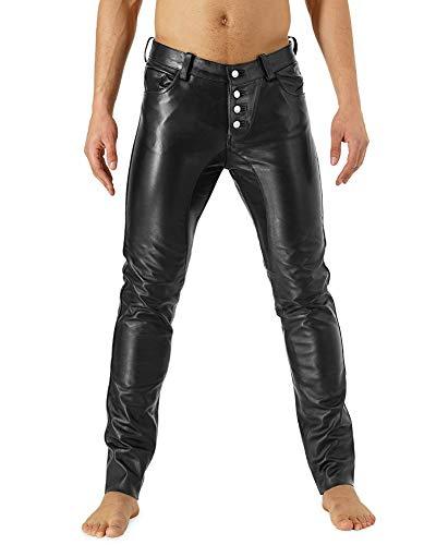 Bockle® Danish Leather Boy Leder Jeans Lederhose Herren 501 Lederhose Herren, Size: 38W / 36L