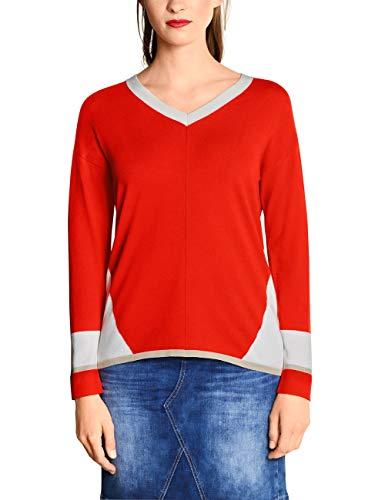 Street One Damen 300991 Pullover, Mehrfarbig (Lava red 31966), (Herstellergröße:40)