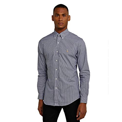Ralph Lauren Camicia Classic Slim Fit (XL, Royal Blue/White)