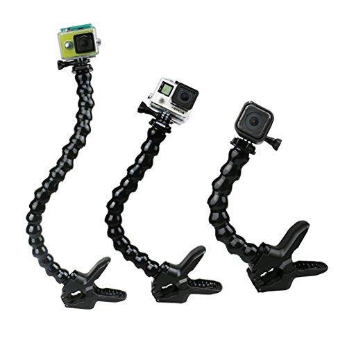 Fivechoice Jaws Flex Support de Bras de Montage col de Cygne avec Pince réglable avec col de Cygne Puissant Clamp pour GoPro Hero 5 4 3 2 SJCAM Xiaomi Xiaoyi Caméra d'action Sport Caméras, 13 Section