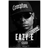 Eazy-Eヒップホップラッパーウォールアートキャンバス絵画写真に印刷ポスターリビングルームの装飾キャンバスに印刷50x70cmフレームなし