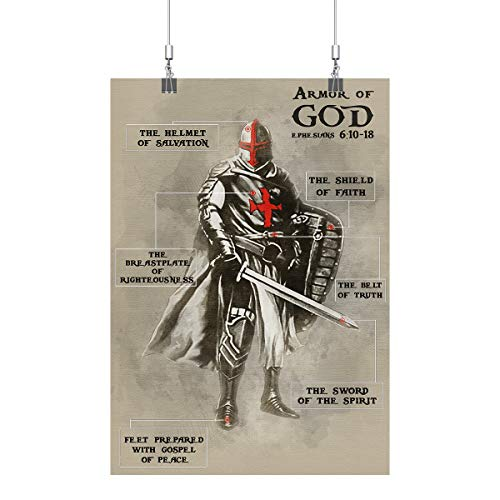 Royal Decor Collection Armor of God Poster Print Wall Art