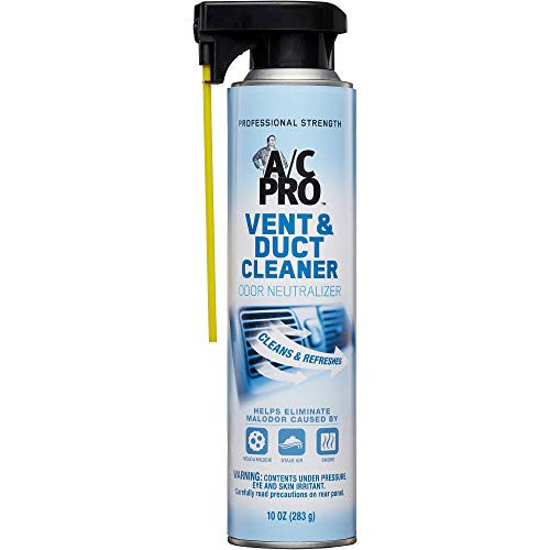 InterDynamics Certified A/C Pro Vent and Duct Cleaner, Odor Eliminator for Cars, Truck and HVAC, Professional Strength, 10 Oz, 17900