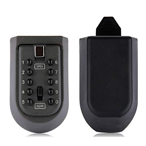 Jiangya Schlüsselschloss, für den Außenbereich, wasserdicht, Versteck, Schlüssel, Schlüssel-Halter, Kombination für Zuhause/Haus, Schlüsselaufbewahrung (schwarz)