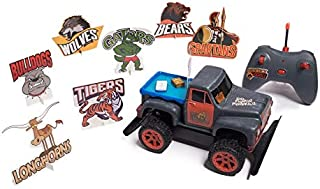 Tailgate Party RC-Radio Control Toy Truck Game Set Customizable w/Bumper Stickers, Includes 7 Mascot Targets, Dude & Chick Football Tailgating Fans. Remote Control-Great for Tailgaters. 2.4 GHz
