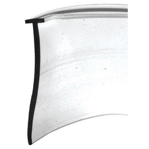 Slide-Co 194342 Shower Door Bottom Seal, 'T', 5/32 in. x 36 in. x 1 in., Clear Vinyl