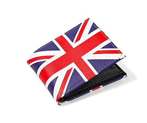 Union Jack British Flag Mens Retro Wallet Card and...