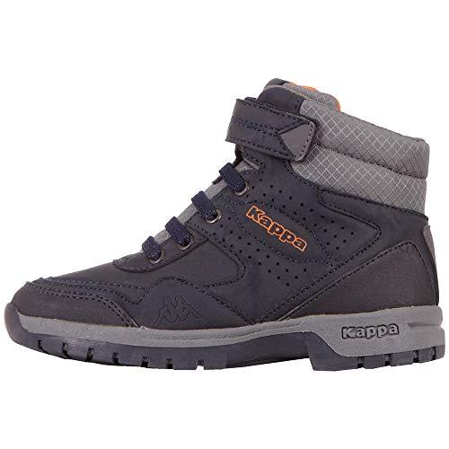 Kappa Unisex Kinder Lithium Sneaker, 6729 Navy/Coral,35 EU