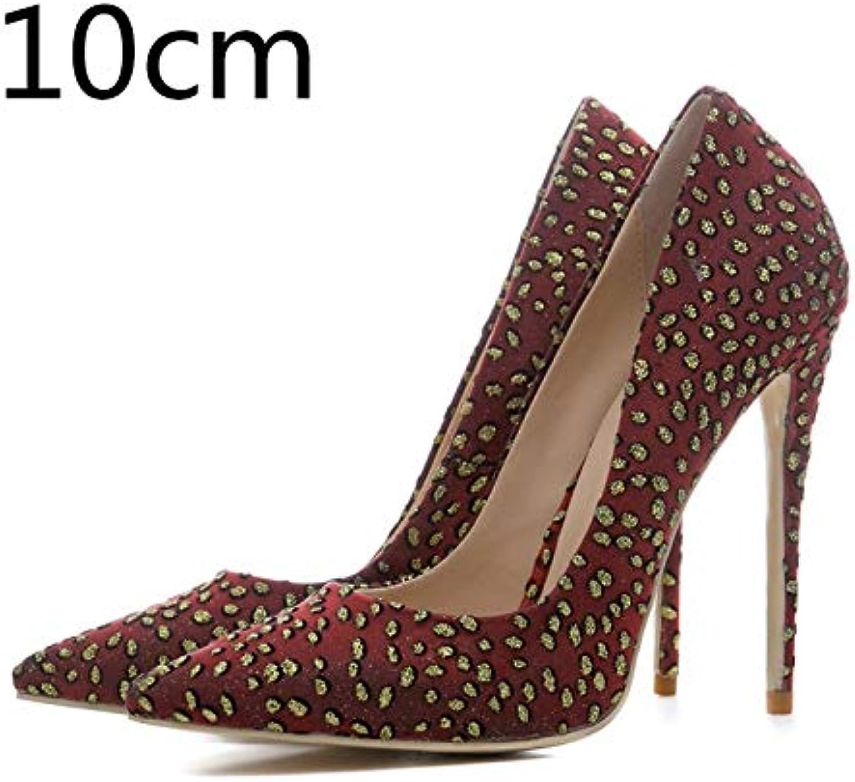 HOESCZS HOESCZS Frauen Mesh Dünne High Heels Slip-on Spitze Polka Dot Schuhe Frau Casual Frühling Pumps Plus Größe 33-45,  bis zu 70% Rabatt