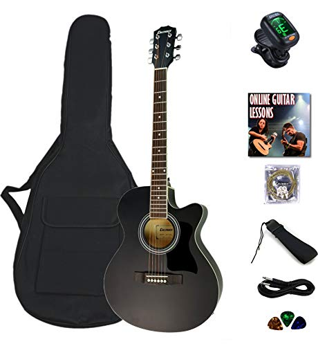 electro electric acoustic guitar bundle beginner package Columbus Concert...