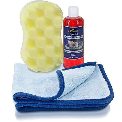 Petzoldts Mattfolien- & Mattlack-Waschset, mit Shampoo, Waschschwamm & Trockentuch