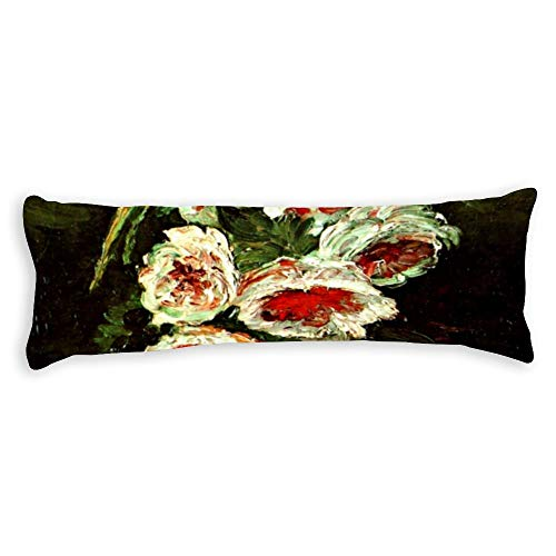 Vase With Peonies Body Pillow Cover Pillowcases Cushion With Hidden Zipper Closure For Sofa Bench Bed Home Decor 20'X54'