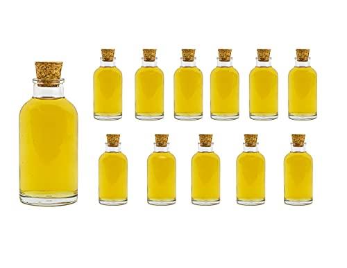 casavetro - Botellas pequeñas de 100 ml, Incluye tapón de Corcho, para Licor, (25,30,50), 25 Unidades