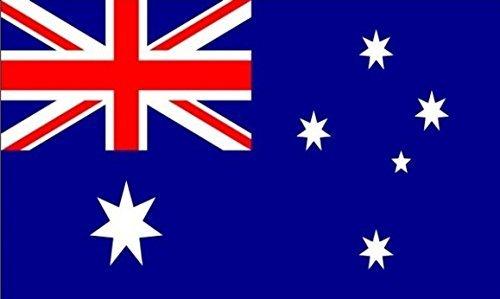 UKFlagShop 45,7x 30,5cm (45x 30cm) Australien Aussie Ärmeln Boot Höflichkeit 100% Polyester Material Hand Waving Flag Banner Ideal für Pub Club Schule Festival Business Party Dekoration