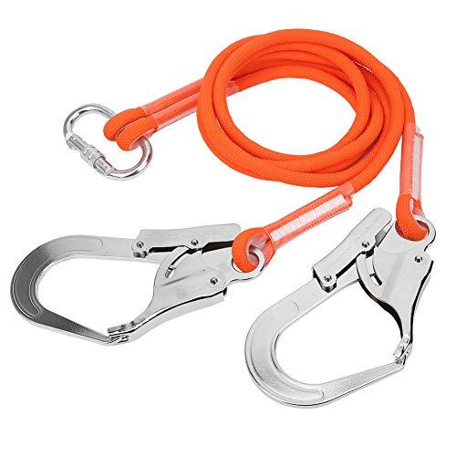 Taidda- Acollador de seguro de construcción al aire libre, cinturón de seguridad de acero para construcción al aire libre, cuerda protectora de trabajo aéreo, montañismo para escalada en roca