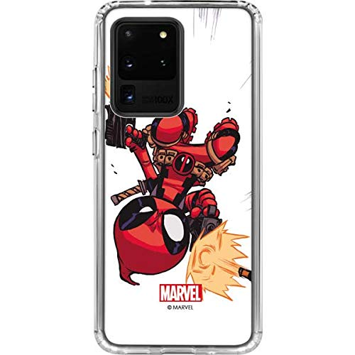 Skinit Clear Phone Case for Galaxy S20 Ultra 5G - Officially Licensed Marvel/Disney Deadpool Baby Fire Design