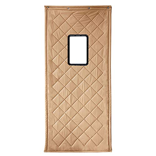 CAIJUN Rideau De Porte Garder Au Chaud Pare-brise Couper Coton Épais PU Étanche Fenêtre Transparente De Plein Air, 3 Couleurs 22 Tailles (Couleur : Or, taille : 100x240cm)
