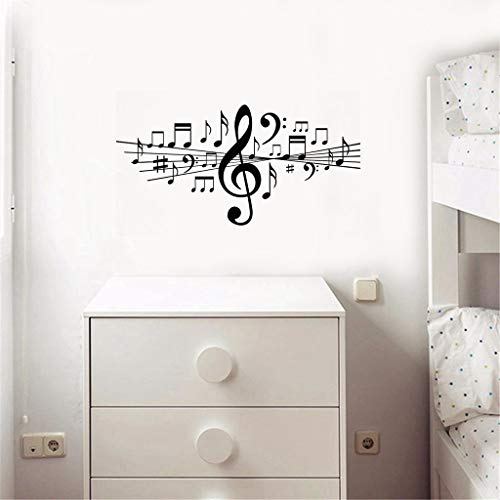 Löwetanzaufkleber Musiknoten Für Wohnzimmer Wohnkultur Aufkleber Studio Schlafzimmer Dance Art Geschenk Poster für schlafzimmer