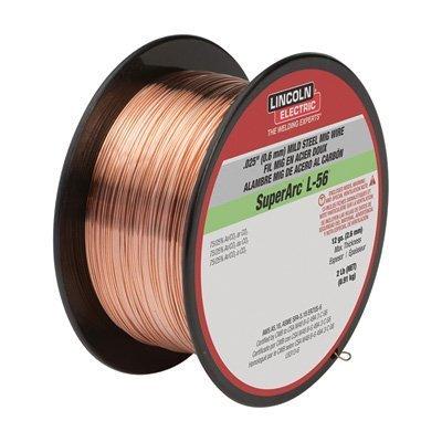Lincoln Electric SuperArc L-56 Premium Copper-Coated MIG Welding WIre - 2-Lb. Spool, 0.025in. Dia, Model# ED030583