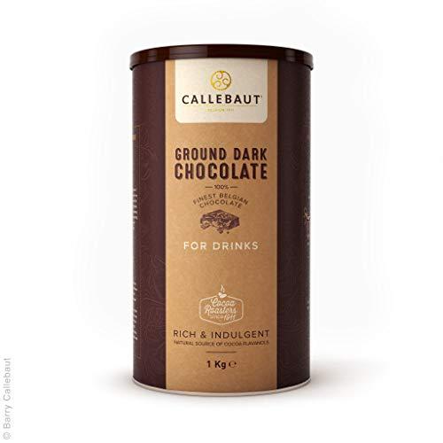 Callebaut - Ground Dark Chocolate, dunkle Trinkschokolade 50,1% Kakao, (1x1kg)