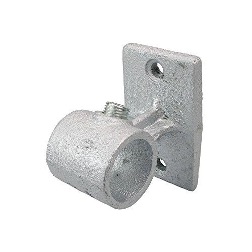 Liedeco dragers voor muur of plafond - gordijnroede, buis 28 mm Ø industriële look | metaal | zilver - 1 stuk