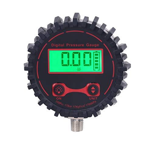 Meipai 0-250 PSI Medidor de presión de neumáticos Digital, 1/8'con Linterna, para Coche, camión, Bicicleta, Motocicleta, vehículo, medidor de inflado de neumáticos