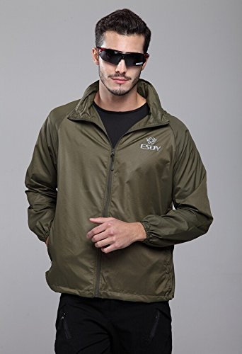 SaySure - TAD Camouflage Men Outdoor Prevent Bask Jakcet Men Hoodie Jacket Waterproof Jacket High Quality (COLOR :GREEN | SIZE : L) by SaySure