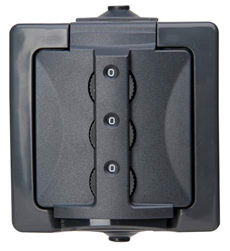 Kopp 955015016 Zahlenschloss Nautic Aufputz-Feuchtraum-Steckdose abschließbar anthrazit