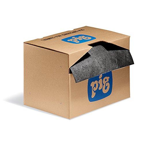 Absorbent Mat Roll in a Dispenser Box by New Pig | Super Oil Absorbent Pads | All Purpose Super Absorbent Mat Roll | MAT141