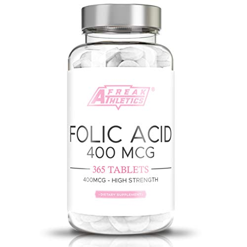 Folic Acid 400mcg (Vitamin B9) | 365 Easy Swallow Tablets | Folic Acid for Pre Pregnancy | Manufactured in The UK