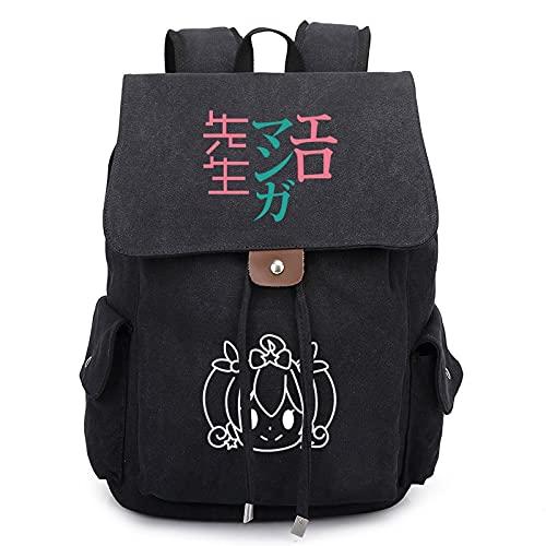 JXEXF Ajustable 3D Anime Casual Daypacks Unisex Teen's School Bag, Laptop Unisex Lightweight College Rucksack Daypack (Color : Black, Size : 36 * 30 * 16cm)